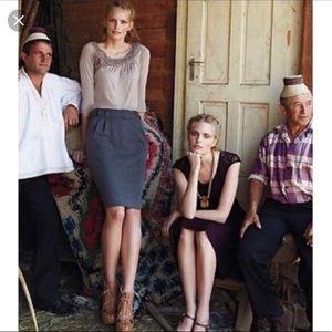 Maeve Black Ponte Pencil Skirt